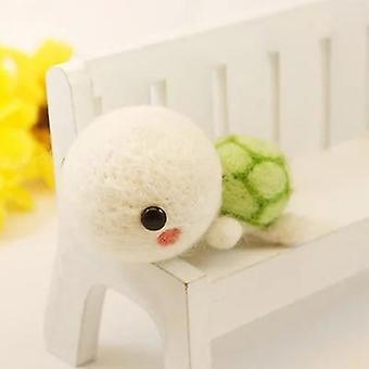 Non-finished Diy Cute Animal Dog Panda Rabbit Wool Felting Package - Handmade Toy Pets Wool Felt Needle Poked For Kitting