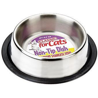 Klassieke roestvrijstalen niet-tip cat dish - 240ml (160mm diameter)