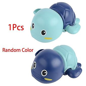 1pcs Bath Turtle Dolphin Baby Shower, Baby Wind Up, Swim Play Toy, Swimming