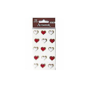 Rote und weiße Herzen Craft Verschönerung von Artoz