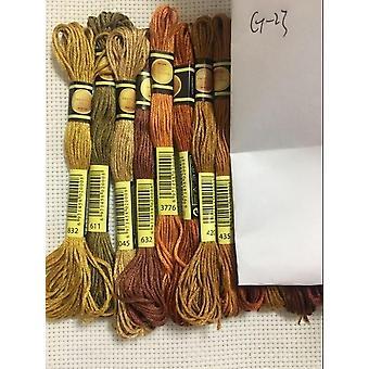 Algodón bordado hilo Hilo Floss coser pieles Artesanía