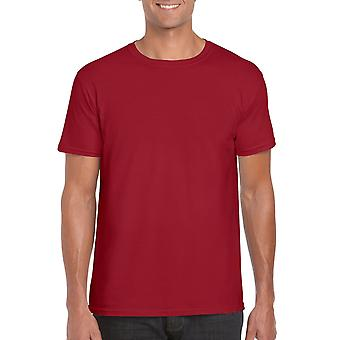GILDAN G64000 Softstyle Men's T-shirt in Kardinaal