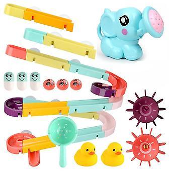 Mramorový závod beh, plastové stavebné bloky - kúpeľ toy vodné hry set