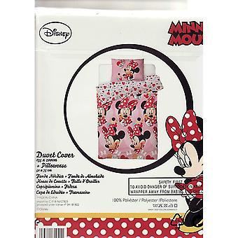 Minnie Mouse I Love Single Duvet Cover Set
