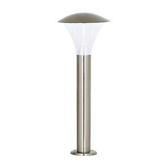 Endon Francis - Outdoor Bollard Light Brushed Stainless Steel, Frosted Polycarbonat IP44