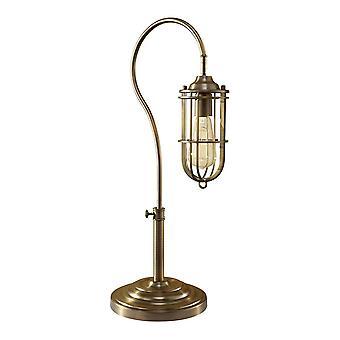 1 Lampe de table claire Laiton antique foncé, E27