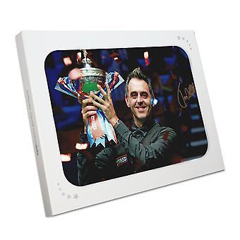Ronnie O'Sullivan signiert Snooker Foto: Sechsfacher Weltmeister. In Geschenk-Box