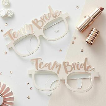 כיף מסיבת רווקות צוות הכלה נייר משקפיים 8 זוגות-אביזרים צילום