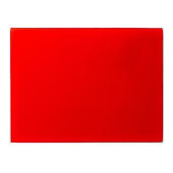لوحة تقطيع التوقف عن طريق سطح العمل الزجاج | 40 × 30 سم - أحمر | حامي خفف غير زلة لأسطح المطبخ