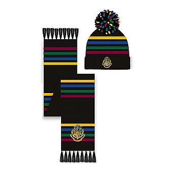 Harry Potter Slytherin Sombrero y bufanda Set Unisex Multicolor (SG-HPTR-009)