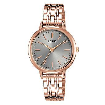 Lorus Damen Rose Gold Armband Uhr mit weichen grauen Zifferblatt (Modell Nr. RG296PX9)