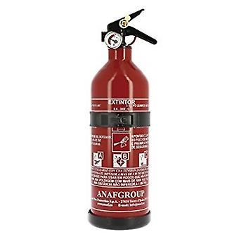 fire extinguisher with manometer and holder 1 kg red 30 cm