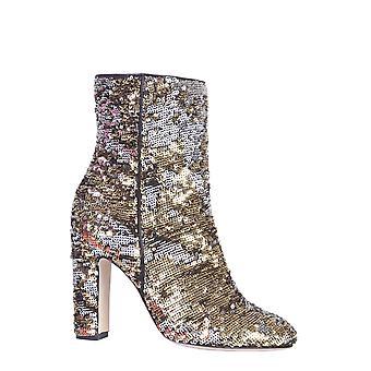 Paris Texas Px185ptsequingold Women's Gold Sequins Ankle Boots