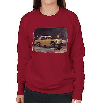 Austin Healey Yellow British Motor Heritage Women's Sweatshirt