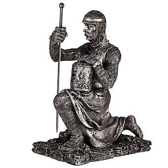 Figurine de chevalier à genoux collectable