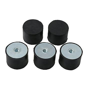 5PCS DE M8 40 x 30 Female Thread Flat Base Rubber Isolator Replace Silentblock