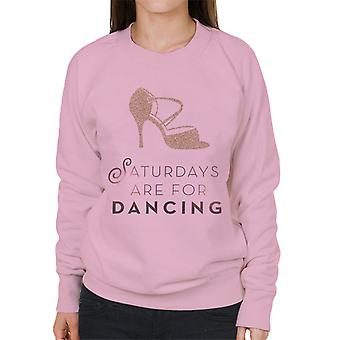 Strictly Come Dancing Saturdays Are For Dancing Glitter Stiletto Women's Sweatshirt