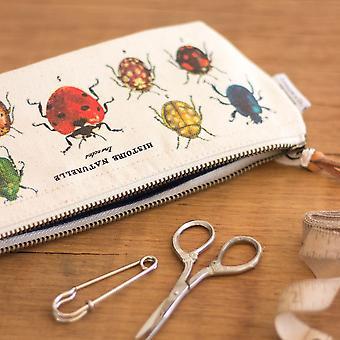 Cavallini Mini Pouch Insects - Cotton Pencil Storage Case