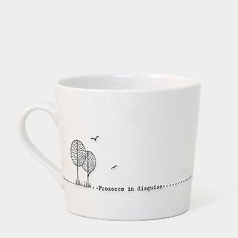 East of India Wobbly Mug Prosecco in Disguise - Keepsake Gift Prosecco Lover