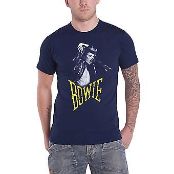 David Bowie Mens T-Shirt azul marinho Aladdin grito sà silhueta oficial