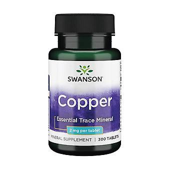 Ensiluokkaista kuparia 2 mg 300 tablettia 2 mg