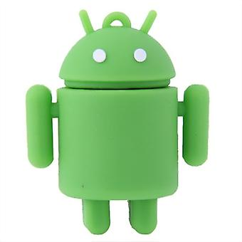 16GB Android Robot Style USB Flash Disk (Green)