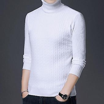 Casual Knitted Turtleneck Sweater Men, Pullover Clothing, Clothes Knit Winter