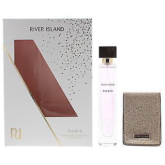 River Island Paris Eau de Toilette 75ml & Compact Mirror Gift Set