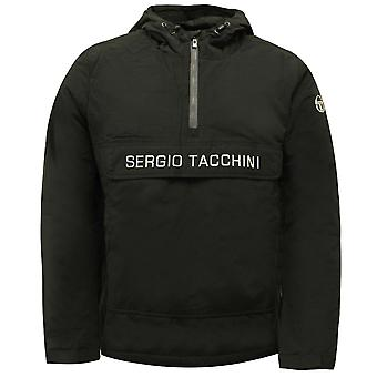 Sergio Tacchini In Anorak Half Zip Up Mens Coat Jacka Svart 37750 166 X19A