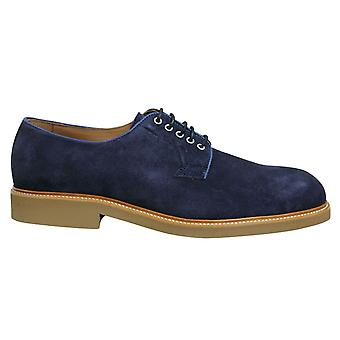 Hackett London Chino Eyelet Blucher Navy Lace Up Mens Oxford Shoes HMS20802 595