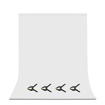 Utebit white backdrop with 4 photography clamps 6x9ft/1.8x2.8m pro less wrinkles foldable background