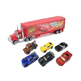 3 Lightning Mcqueen Jackson Storm Material Mack Uncle Truck 1:55 Die Casting