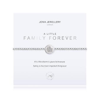 Joma Jewellery A Little Family Forever Silver 17.5cm Stretch Bracelet 3205