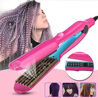 Hair Crimper Curler Dry & Wet Use Corrugated Irons Ceramic Curling Iron
