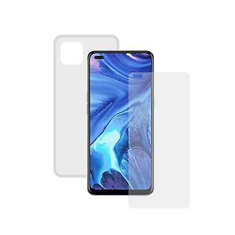 herdet glass mobil skjermbeskytter + mobil sak Oppo Reno 4Z kontakt gjennomsiktig