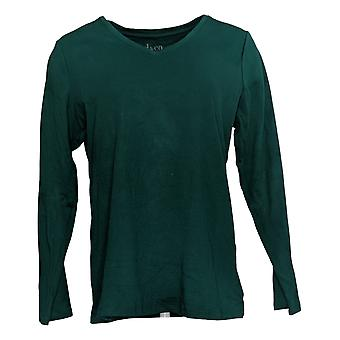 Isaac Mizrahi Live! Women's Top Essentials V-Neck Tunic Green A390353