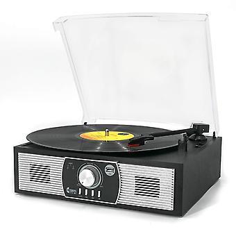 Levysoittimet, vinyylimusiikki levysoittimella 3-vaihteinen bluetooth 5.0 -levysoitin, jossa on sisäänrakennettu spea wof10377