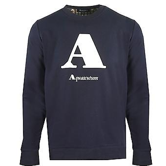 "Aquascutum ""A&Logo Navy Sweatshirt"