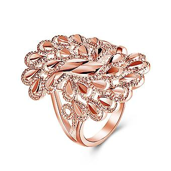 18k Rose Gold Plated Maëlys Feathered Ring Made With Swarovski