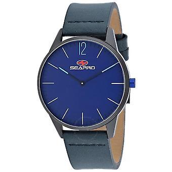 Seapro Black hole Quartz Blue Dial Men's Watch SP0105