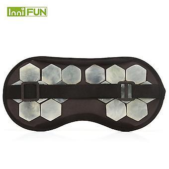 High quality eye care tourmaline magnetic therapy anti-fatigue eye massager sleep/travel eyepatch mask eyeshade mask blindfold