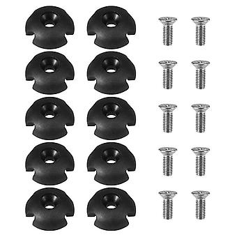 10pcs Deck Line Guide Slotted Round Out Pull Rope Buckle Fitting Accessories