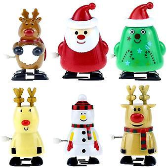Gerui Wind Up Toys 6 Pcs Christmas Clockwork Toys Assortment for Xmas Party Favors Goody Bag