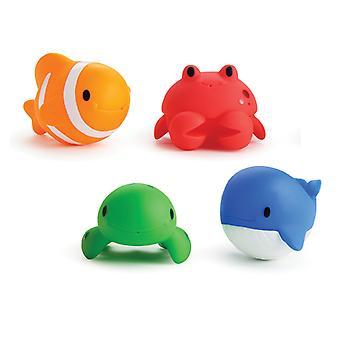 Munchkin 4 Squirtin Sea Buddies Baby Bath Toys