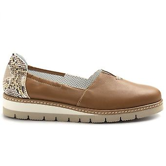 Slip On Donna Philisophy By Alfredo Giantin In Pelle Color Cuoio