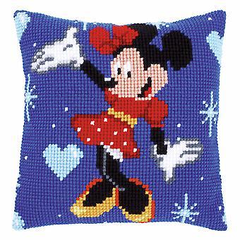 Vervaco Cross Stitch Cushion Kit: Disney: Minnie Mouse