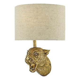 DAR RURI Leopard Wall Oro chiaro con tonalità lino naturale