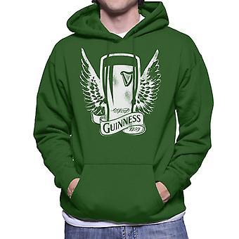 Guinness Vintage Pint With Wings Men's Hooded Sweatshirt