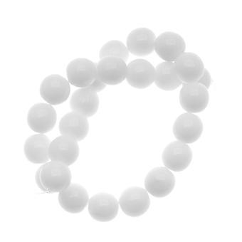 Tšekin lasi Druk Pyöreät läjät 8mm läpinäkymätön valkoinen (25)