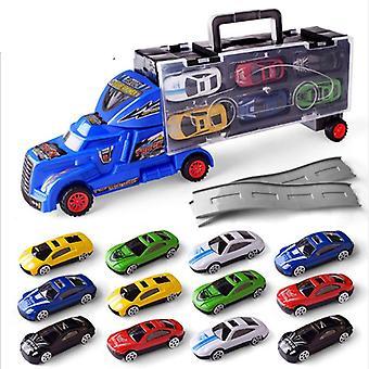 Set camion carrier, modello di auto trasportatore premium, veicolo auto inerziale, set
